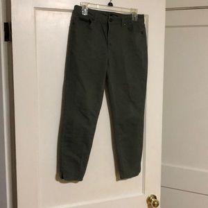 Green casual pants